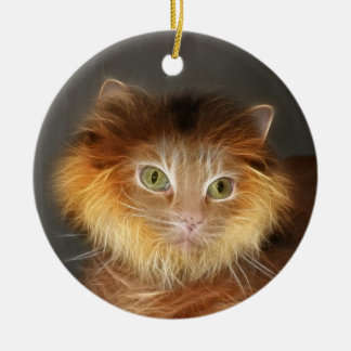 Lion cat christmas ornament