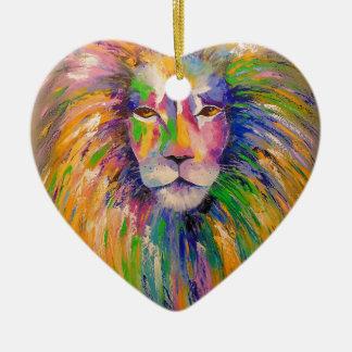 Lion Ceramic Heart Decoration