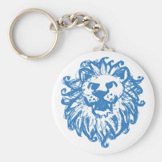 Lion Champ 2 Blue Keychains