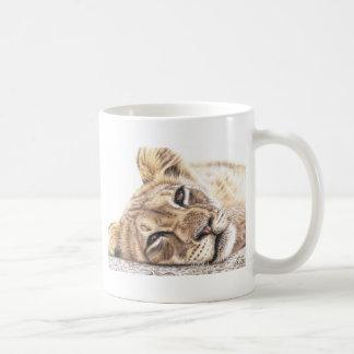 Lion child - Tired Young Lion Mug