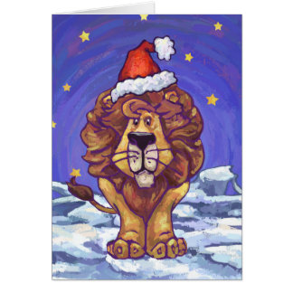 Lion Christmas Note Card