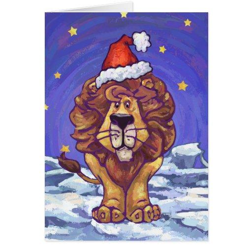Lion Christmas Card
