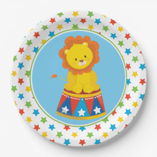 Lion   Circus Theme 9 Inch Paper Plate