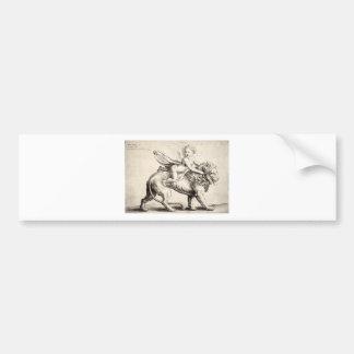 lion-clip-art-1 bumper sticker