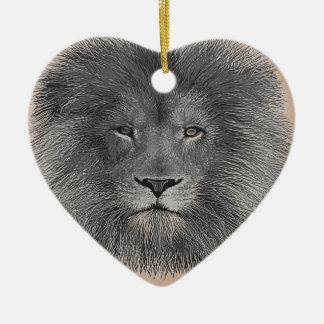 Lion Close Up Christmas Ornament