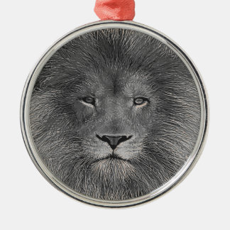 Lion Close Up Christmas Ornament
