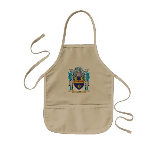 Lion- Coat of Arms - Family Crest Apron