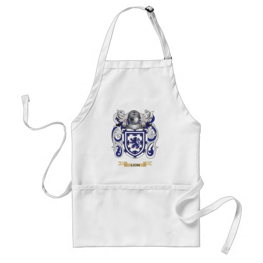 Lion Coat of Arms (Family Crest) Aprons