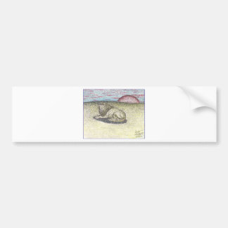LION COLOR PENCIL DRAWING PNG BUMPER STICKERS
