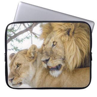 Lion Couple Laptop Sleeve