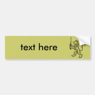 lion crest black bumper sticker