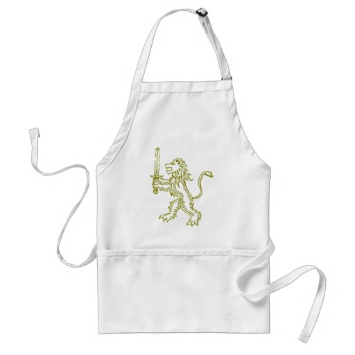 lion crest gold apron