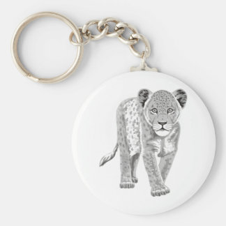 Lion Cub Basic Round Button Key Ring