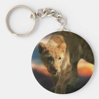 Lion Cub Basic Round Button Key Ring