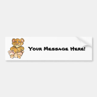 Lion Cub Bumper Sticker