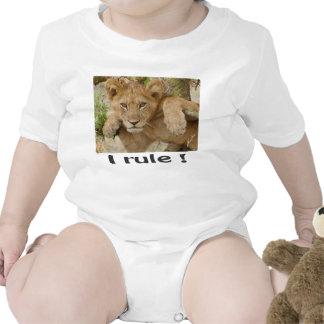 """Lion Cub """"I rule!"""" Baby Creeper or T-shirt Romper"""