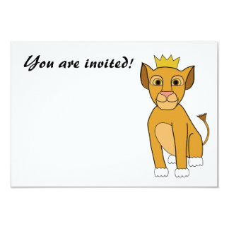 Lion Cub Invitation