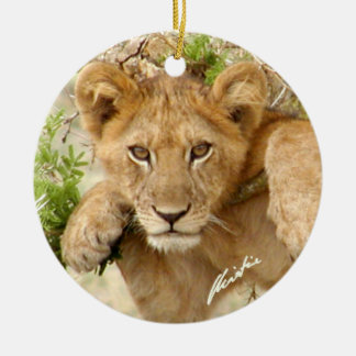 Lion Cub Ornament (2-sided)