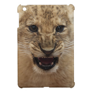 Lion cub snarling cover for the iPad mini