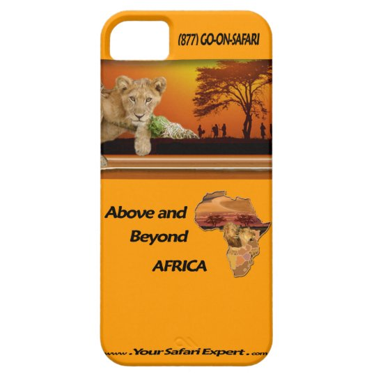 Lion Cub & Tribe under Tree & Africa Collage iPhone 5 Covers