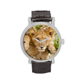 Lion Cub Watch with black dial