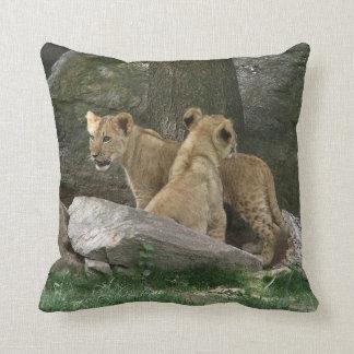 Lion Cubs Exploring pillow