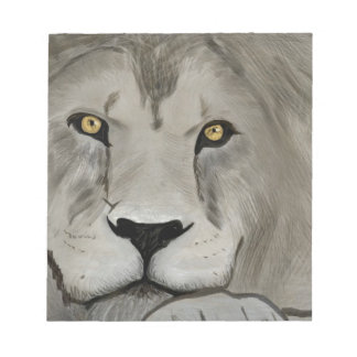 Lion Digital Painting Memo Notepad