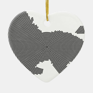 lion dots ceramic heart decoration