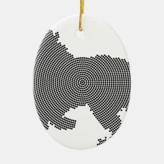 lion dots christmas ornament