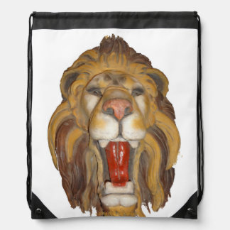 LION DRAWSTRING BACKPACK