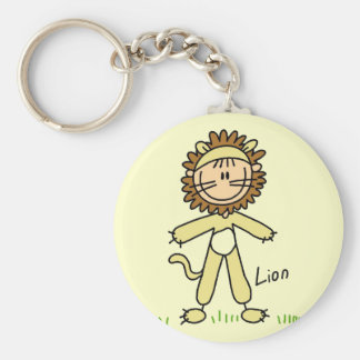 Lion Dress Up T-shirts and Gifts Keychain