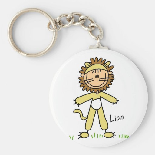 Lion Dress Up T-shirts and Gifts Keychains