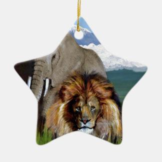 LION ELEPHANT CHRISTMAS ORNAMENT