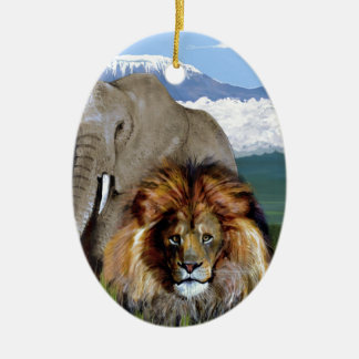LION ELEPHANT CHRISTMAS ORNAMENT