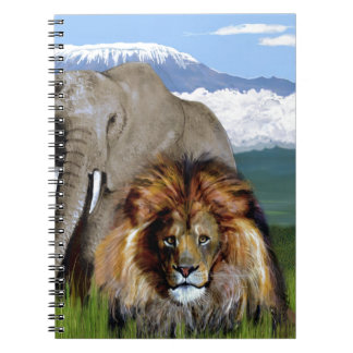 LION ELEPHANT SPIRAL NOTEBOOK