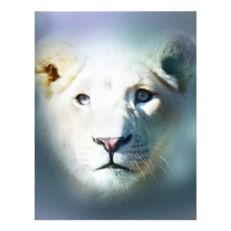Lion emerging out of the blue 21.5 cm x 28 cm flyer