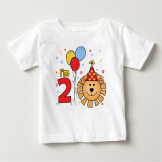 Lion Face  2nd Birthday Baby T-Shirt