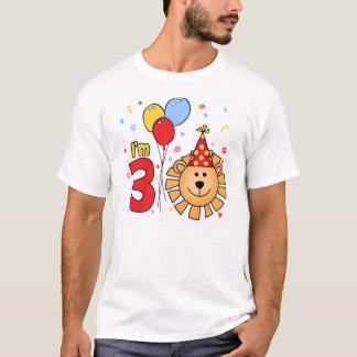 Lion Face 3rd Birthday T-Shirt
