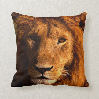 Lion Face Accent Pillow