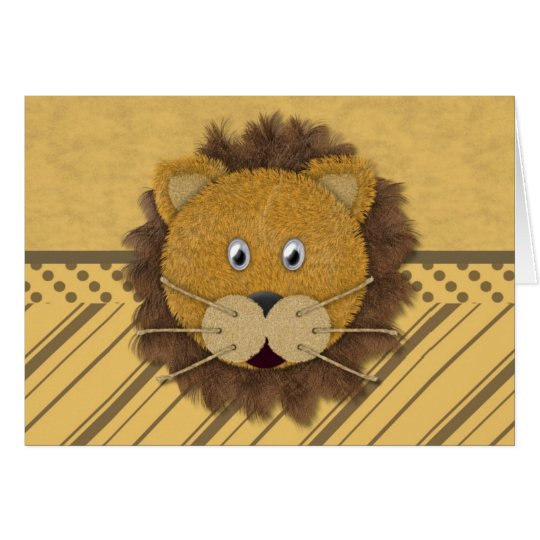 Lion Face Card