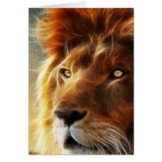 Lion face .King of beasts abstraction Card