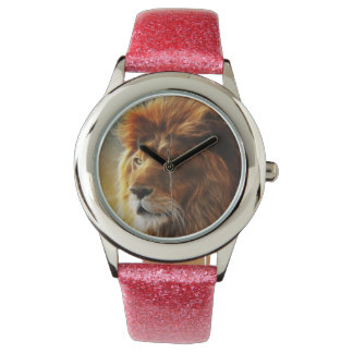 Lion face .King of beasts abstraction Watch