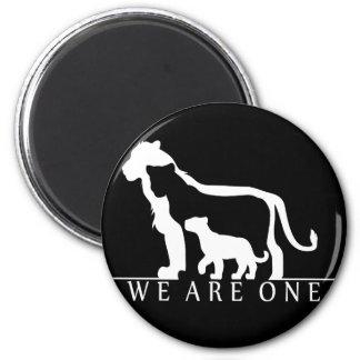 Lion Family (black version) Refrigerator Magnets
