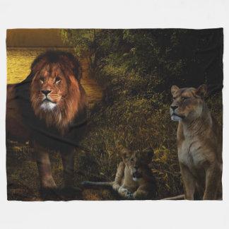 LION FAMILY FLEECE BLANKET