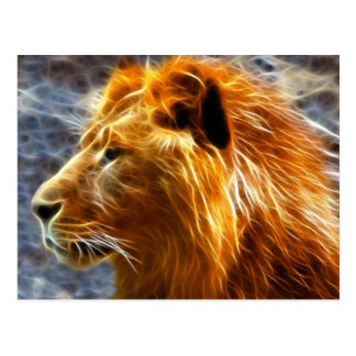 Lion fantasy postcard