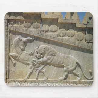 Lion fighting bull, relief east staircase mouse pad