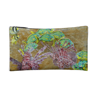 Lion fish cosmetic bag