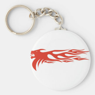 Lion Flames Keychain