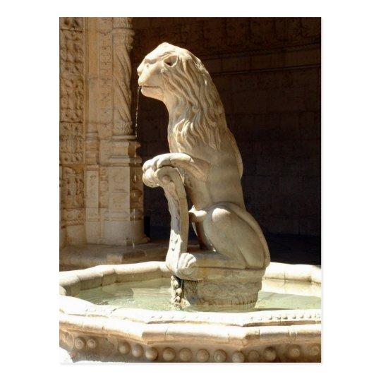 Lion fountain postcard