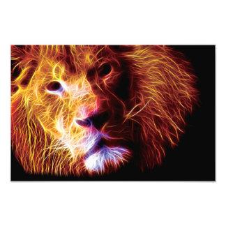 Lion Fractal Photographic Print